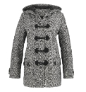 Petite Tweed Duffle Coat Length 27in