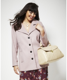 Smart Coat with Contrast Buttons