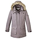 Regatta Parka With Faux Fur Trim Hood