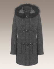 Duffle Coat With Faux Fur Trim Hood
