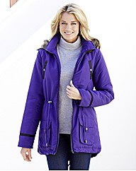 Faux Fur Trim Parka Jacket