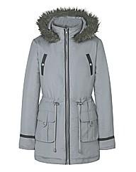 Faux Fur Trim Parka Jacket