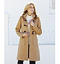 Dannimac Faux Fur Trim Duffle Coat