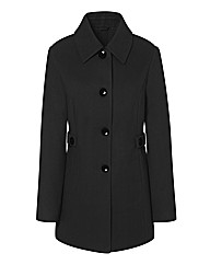Contrast Button Coat