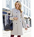 Collarless Buttoned Coat