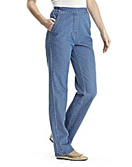 Pull On Cotton Comfort Jeans Length 27in