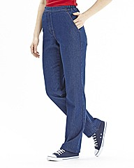 Suzy Pull On Cotton Jeans Length 29in