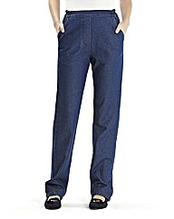 Pull On Cotton Comfort Jeans Length 29in