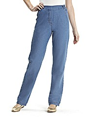 Pull On CottonComfort Jeans Length 25in