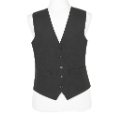 Brook Taverner Black Waistcoat Short