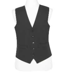 Brook Taverner Black Waistcoat Regular