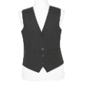 Brook Taverner Black Waistcoat Long