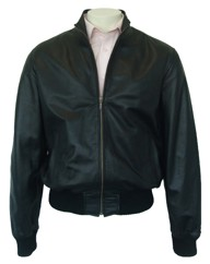 Leather Bomber Jacket.