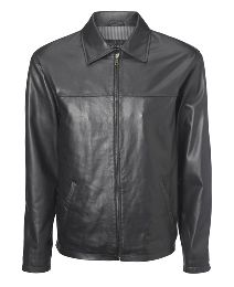 Leather Harrington Jacket.