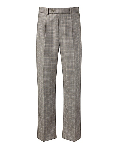 Premier Man Check Trousers 29in