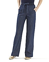 Slouch Cotton Jeans Length 27in