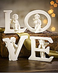 Set Of 4 Cherubs In Love
