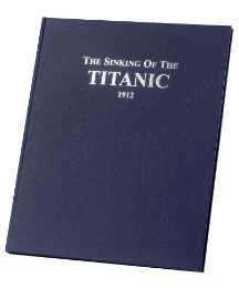 Personalised Titanic Daily Mirror Book