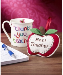 Thank You Teacher Mug & Apple Decoration