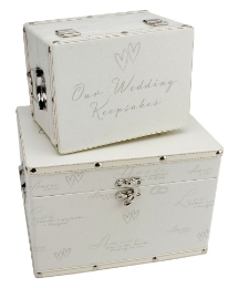Set Of 2 Amore Wedding Boxes