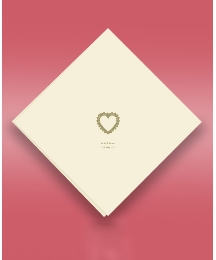Heartfelt Roses 50 Wedding Serviettes