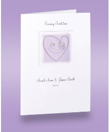 Lilac Heart Evening Wedding Invitations