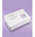 Lilac Heart 20 Wedding Cake Boxes