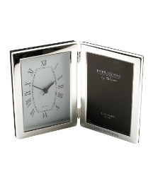 Personalised Silver Plated Clock Frame