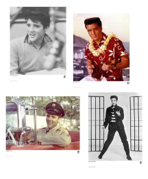 Set of 4 Collectors Elvis Prints