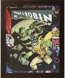 Vintage Batman & Robin Framed Print