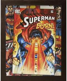 Superman Montage Framed Print