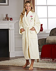 Personalised Embroidered Rose Bath Robe