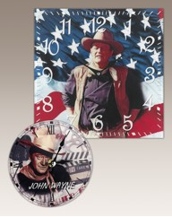 John Wayne Wall Clock With Free Clock