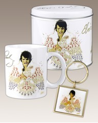 Elvis Mug, Keyring And Storage Tin
