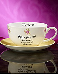 Personalised Sentiments Teacup & Saucer