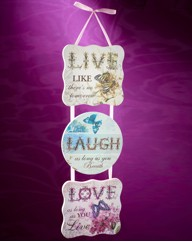 Live Laugh Love Triple Wall Plaque