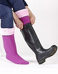 Pair Of Lavender & Pink Welly Warmers