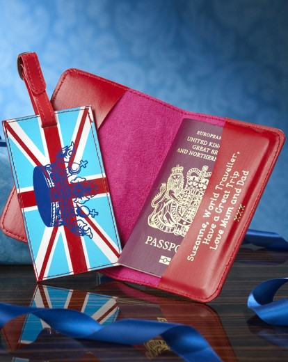 Image of Personalised Union Flag Passport Set