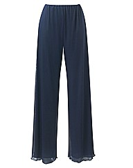 Wide Leg Palazzo Trousers Length 27in