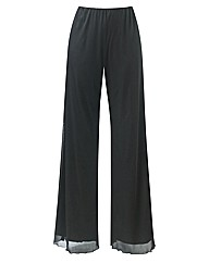 Wide Leg Palazzo Trousers Length 30in