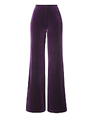 Joanna Hope Velour Palazzo Trousers 29in