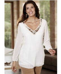 Isabella Cole Beaded Blouse