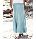 Linen Blend Skirt Length 30in