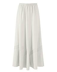 Linen Blend Skirt Length 27in