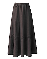 Linen Blend Skirt Length 27in