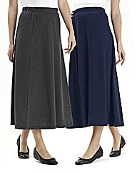 Pack of 2 Jersey Skirts Length 30in