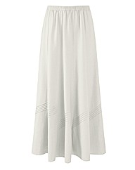 Linen Blend Skirt 27in