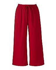 Crinkle Crop Trousers Length 19in