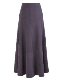 Mock Suede Skirt Length 33in