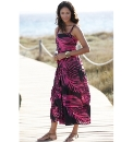 Cotton Tiered Maxi Dress Length 50in